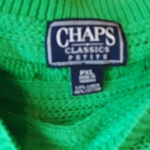 Chaps Sweaters - 3/$20 EUC CHAPS KELLY GREEN CABLE KNIT SWEATER PXL